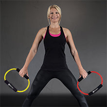 BodySport Resistance Loop Tube - woman with loop tubes in both hands