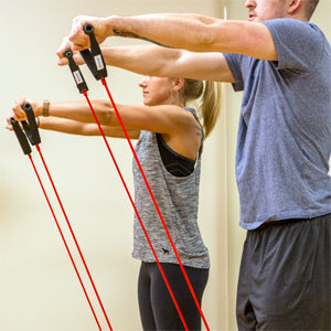 BodySport Fitness Performance Tubes - Man and Woman working out with Tubes