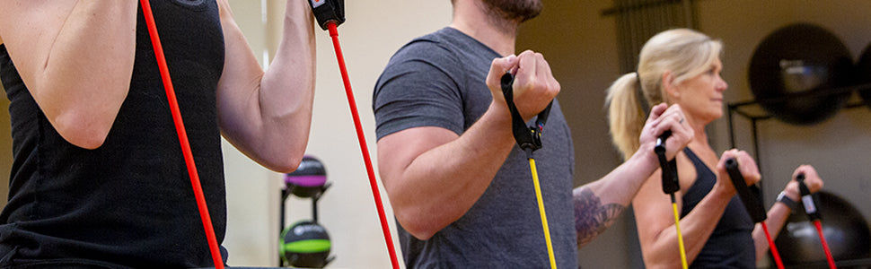 BodySport Fitness Performance Tubes - Group class working out with Tubes