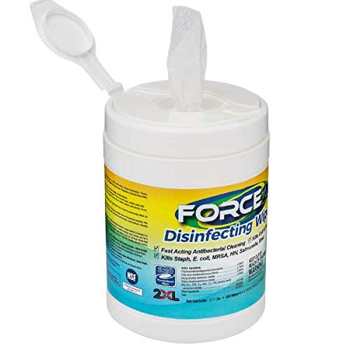 Force2 Disinfecting Wipes, 220 Wipes
