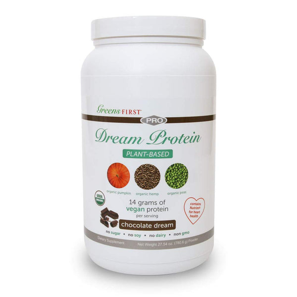Greens First® Dream Protein Plant Based – USDA Organic Dietary Supplement – Vegan Protein Powder – Nutritional Supplement – Chocolate – 30 Servings