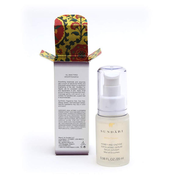 Sundari Honey and Enzyme Exfoliating Serum, 0.98 Ounce