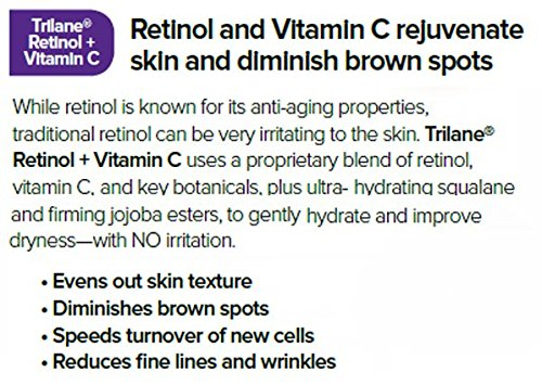 Dr. Tabor's Trilane Retinol + Vitamin C, 1 Bottle (1 fl. oz.) Visibly Reduces the Signs of Aging for Softer, Luminous, Brighter Skin with Zero Irritation