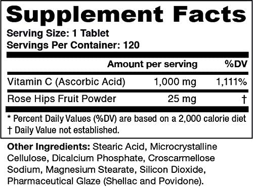 Greens First 1000mg Vitamin C with Rose Hips