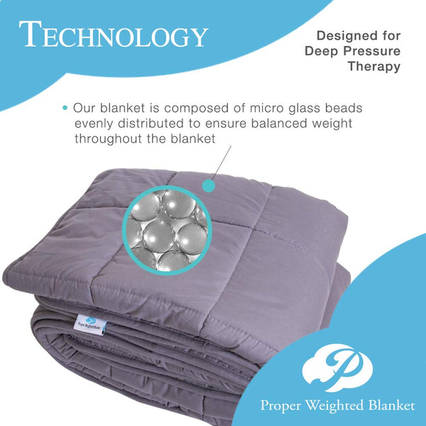 "Proper Weighted Blanket 48""x72"" - 15lbs"