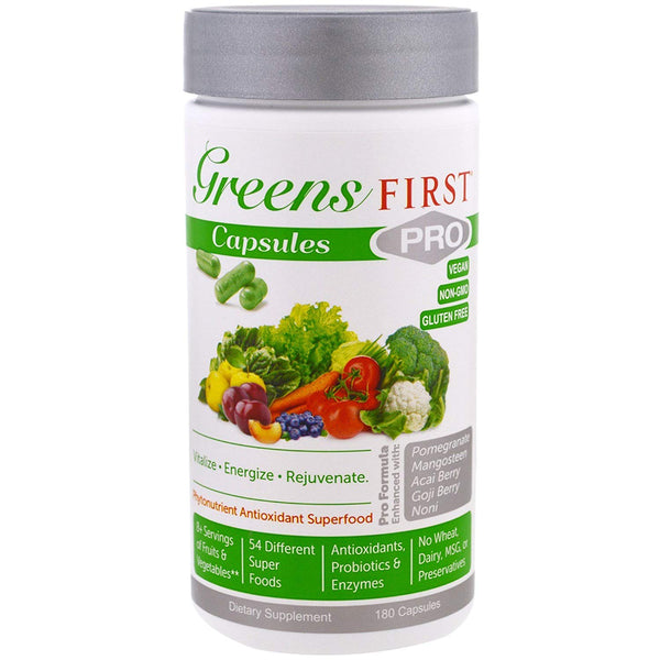 Greens First PRO-CAPSULES  - 180 Capsules 30 Servings