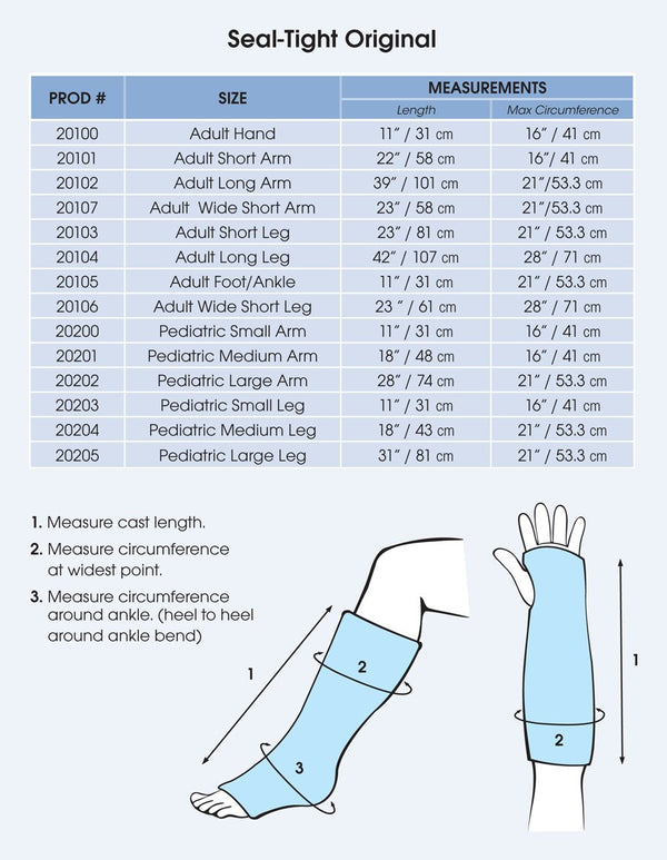 Seal Tight Original Cast and Bandage Protector, Best Watertight Protection, Pediatric Small Leg