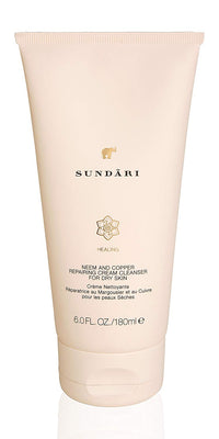 Sundari Neem and Copper Repairing Cream Cleanser for Dry Skin, 6 Ounce