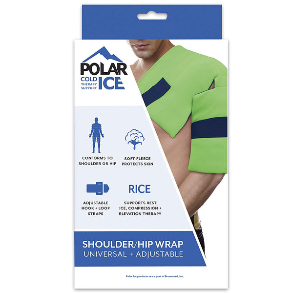 Polar Ice Shoulder and Hip Wrap, Cold Therapy Ice Pack, Universal Size (Color May Vary)