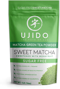 Ujido Japanese Monk Fruit Sweet Matcha, Latte, 16 Ounce
