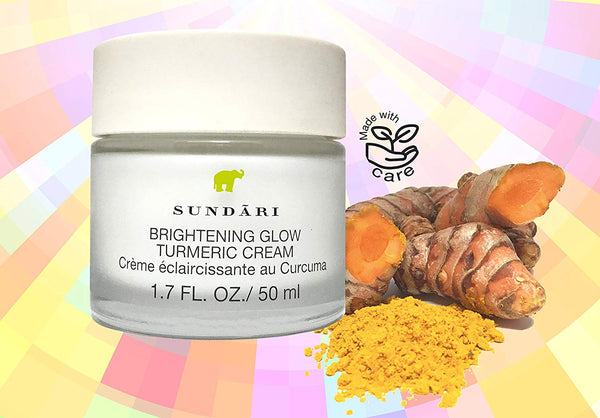 SUNDARI Brightening Glow Turmeric Cream - For a Bright and Glowing complexion - with Turmeric, a powerful antioxidant - for All Skin Types