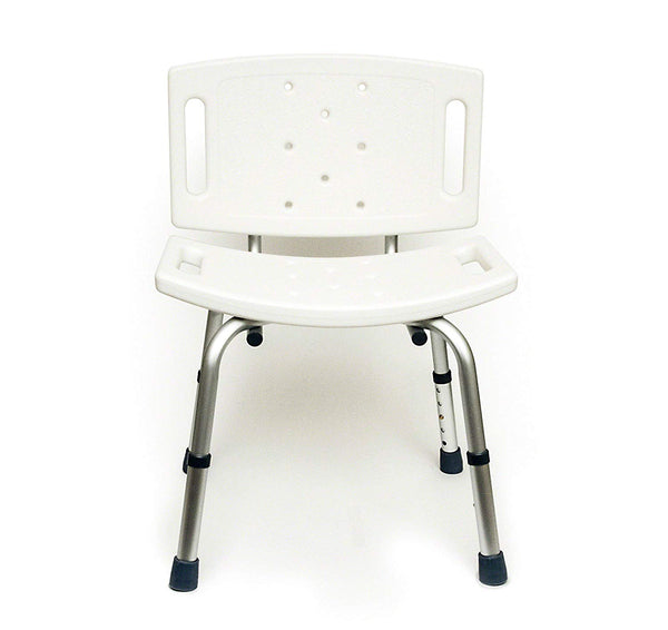BodyMed Aluminum Shower Chair with Back, a Disability Aid for The Shower