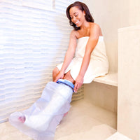 Seal Tight Original Cast and Bandage Protector, Best Watertight Protection, Adult Short Leg Wide