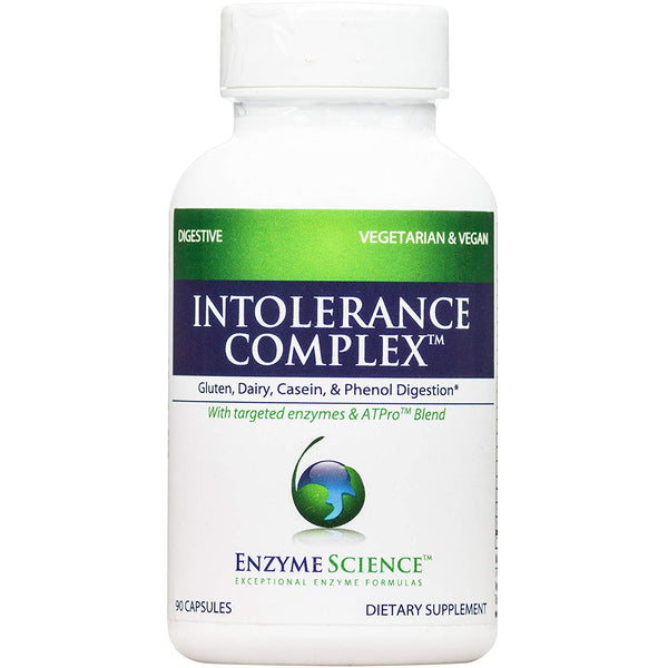 Enzyme Science - Intolerance Complex, Gluten, Dairy, Casein, and Phenol Digestive Enzyme Formula