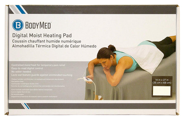 "BodyMed® 14"" x 27"" Black Digital Electric Moist Heating Pad"