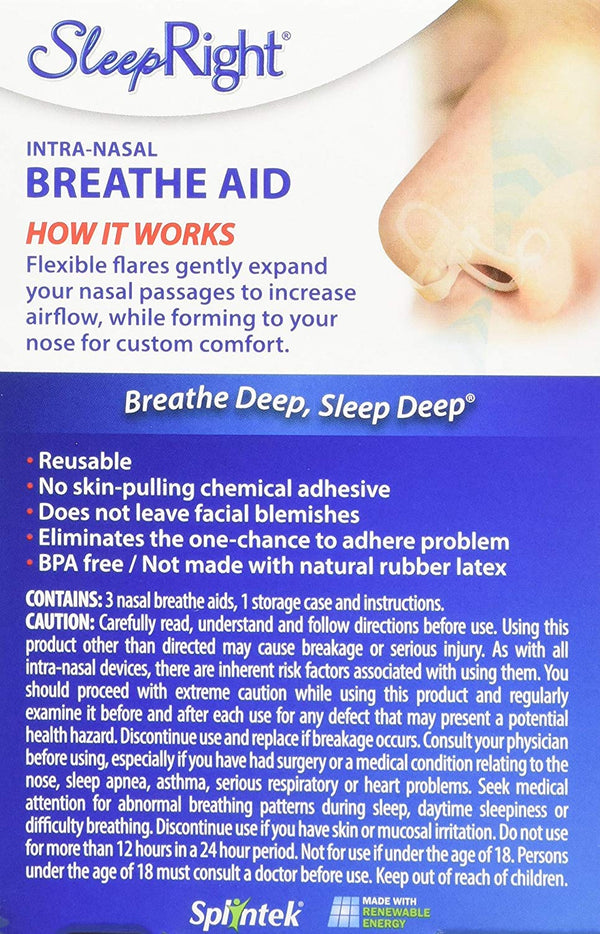 SleepRight Intra-Nasal Breathe Aids