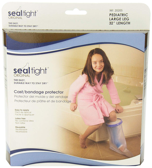 Seal Tight Original Cast and Bandage Protector, Best Watertight Protection, Pediatric Large Leg