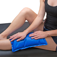 BodyMed Cold Pack Half Size on Knee of Woman