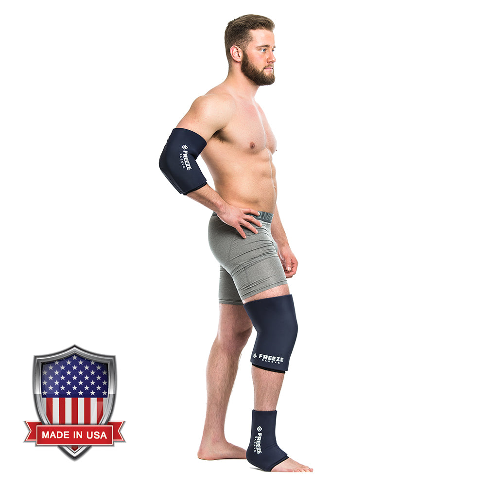 Freeze Sleeve Cold Therapy Compression Sleeve – Navy - XLarge