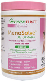 Greens First Female MenoSolve Plus Probiotics, Natural Relief for Menopause, 10.82 Ounce