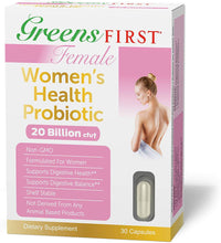Greens First Female Women's Health Probiotic, 30 Capsules – Probiotic Support for Women – Probiotics for Women