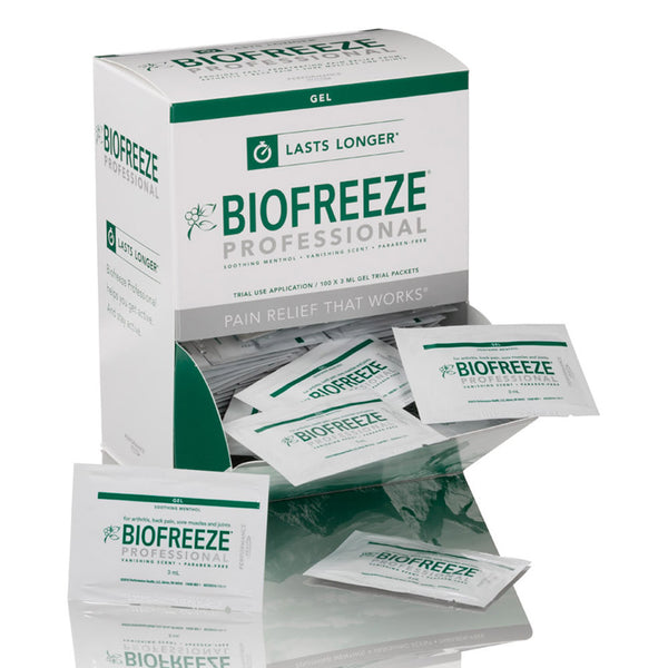 Biofreeze® Professional Sample Dispenser Contains: 100 eachs, 3 ml BF Pro Packettes