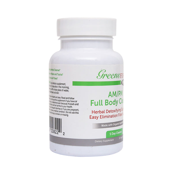 Greens First Full Body AM/PM Cleanse, 20 Veggie Capsules - Supplement for Natural Detox & Digestive Health