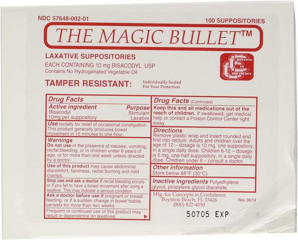 Magic Bullet Suppository, CCMB100
