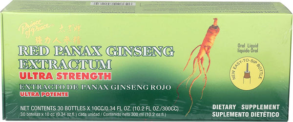 Prince of Peace Red Panax Ginseng Extractum Ultra Strength, 0.34 fl. oz. Each