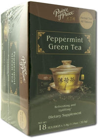 Prince of Peace Peppermint Green Tea, 18 Tea Bags – Herbal Tea Bags