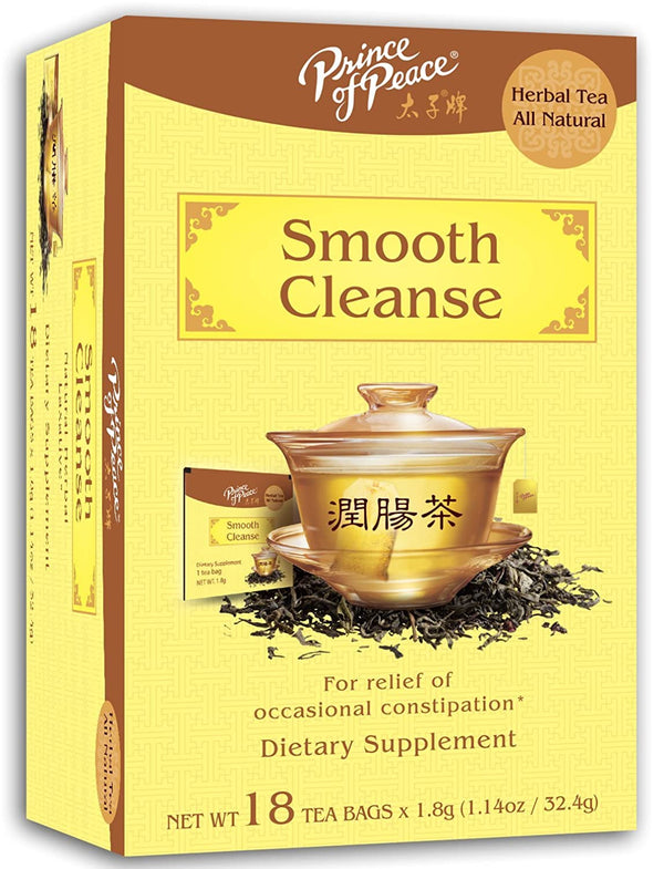 Prince of Peace Smooth Cleanse Tea, 18 Tea Bags – Constipation Relief