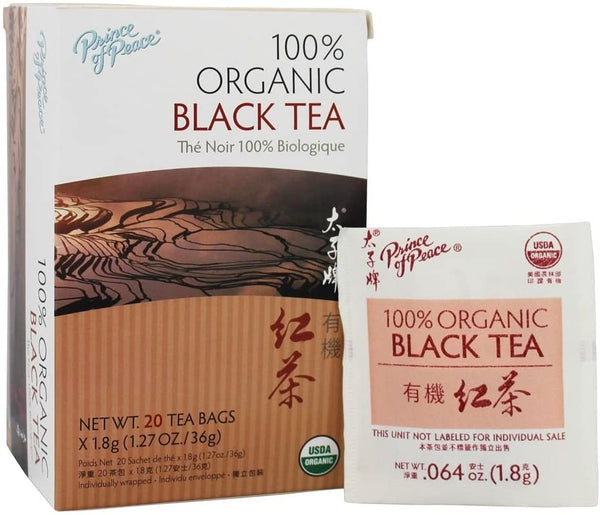 Prince of Peace Organic Black Tea – Lower Caffeine