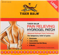 "Tiger Balm Pain Relieving Large Patch, 4"" x 8"", 4/pack"