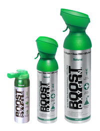 Boost Oxygen Supplement, Natural,  10L, 5L, 2L Canister Multi kit