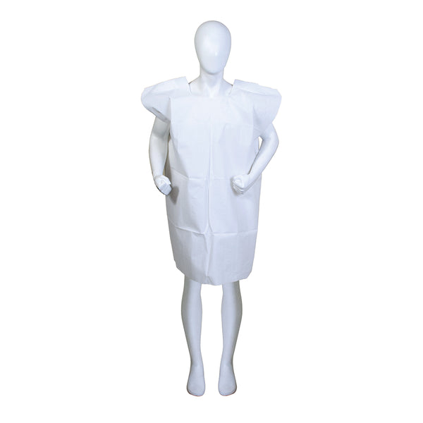 "BodyMed® Disposable Exam Gowns – Disposable Medical Gowns for Adults – Patient Paper Gowns – Case of 50 – 30"" x 42"" – White"