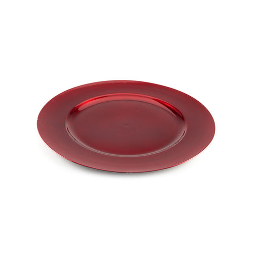 Red Metallic Effect Platter
