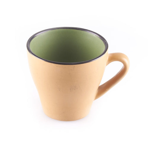 Beige and Green Cup
