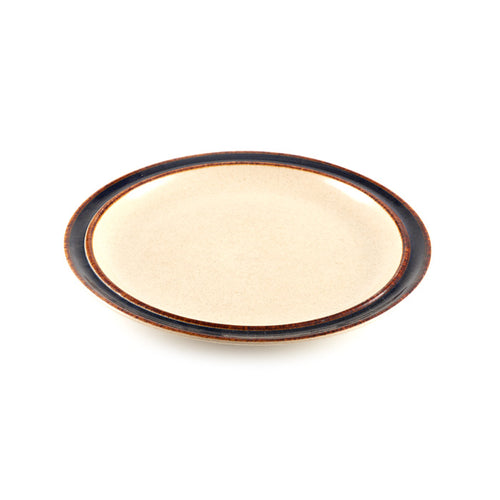 Beige Plate with Black Rim
