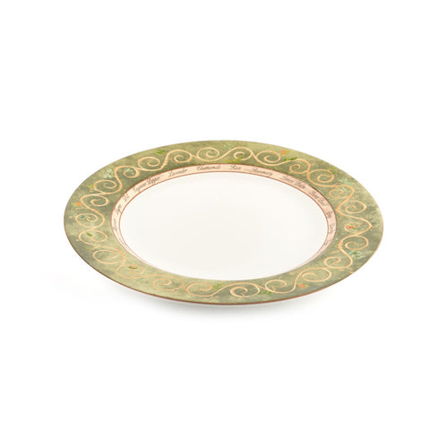 Herb Design Platter with Green Rim