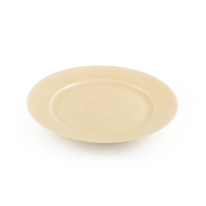 Beige Crackle Glazed Serving Plate