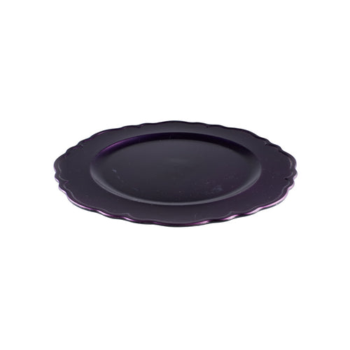 Purple Platter with Scalloped Rim
