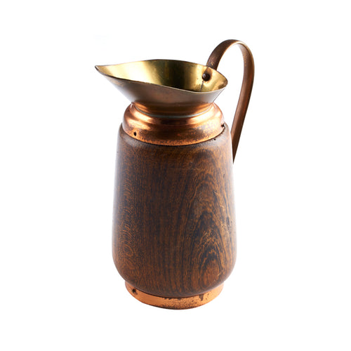 Wood and Metal Pitcher