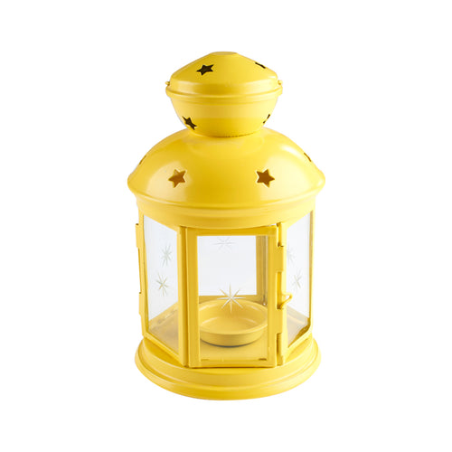 Yellow Lantern Candle Holder
