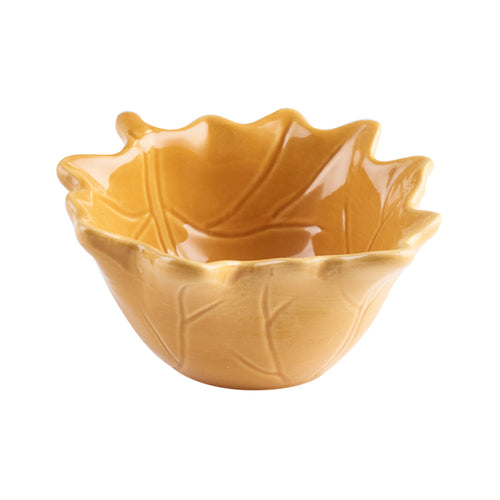 Brown Leaf Shaped Ingredient Bowl