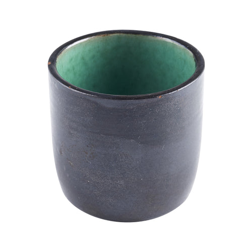 Black Ingredient Bowl with Green Interior