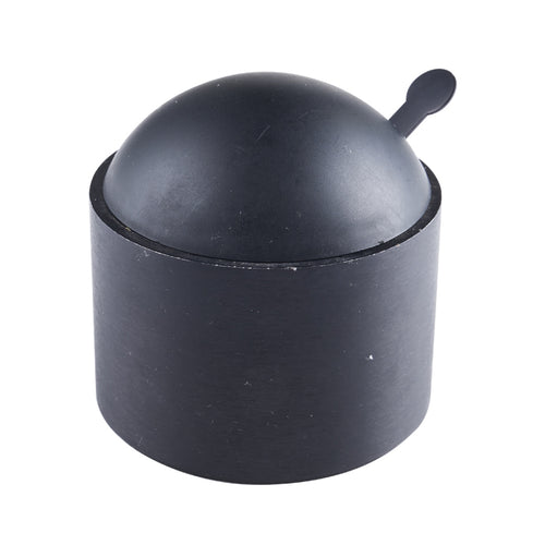 Black Pot with Spoon