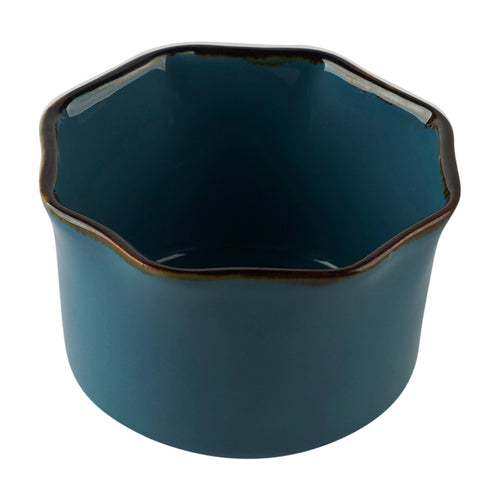 Blue Petal Shaped Ramekin