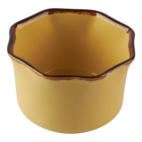 Yellow Petal Shaped Ramekin