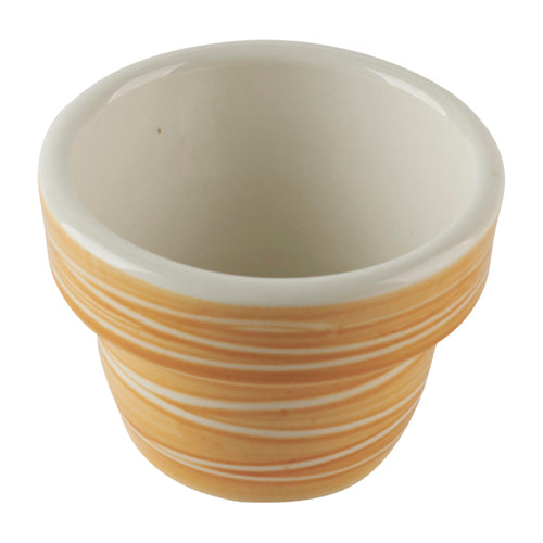 Brown Striped Ramekin