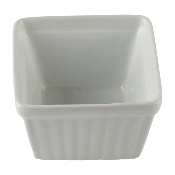 Square White Ramekin